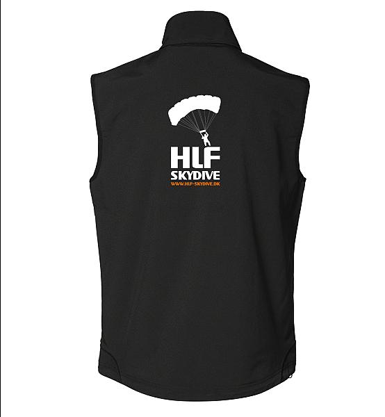 Soft Shell vestherre med HLF ryglogo